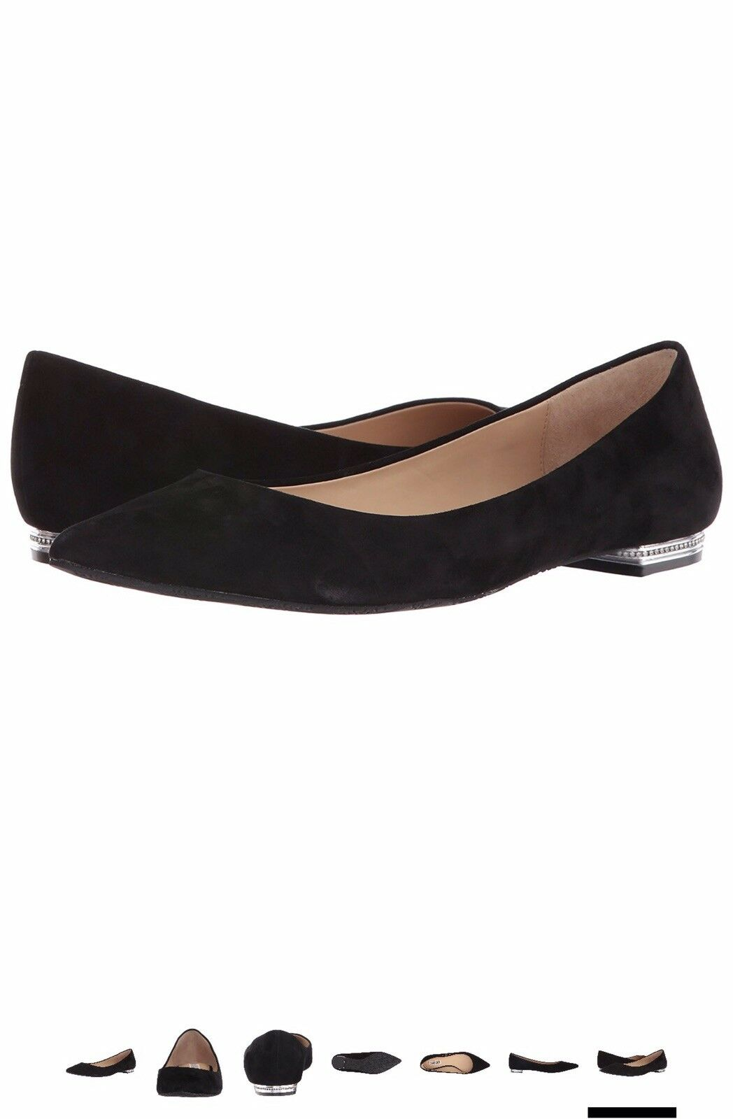 Badgley Mischka Guardian Pointed Toe Flat Size 7.5 NWT