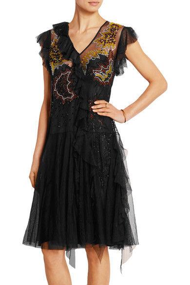 TOPSHOP Unique Impreziosito Increspato tulle dress Designer abito da sera sera sera da Top Shop f1aabc
