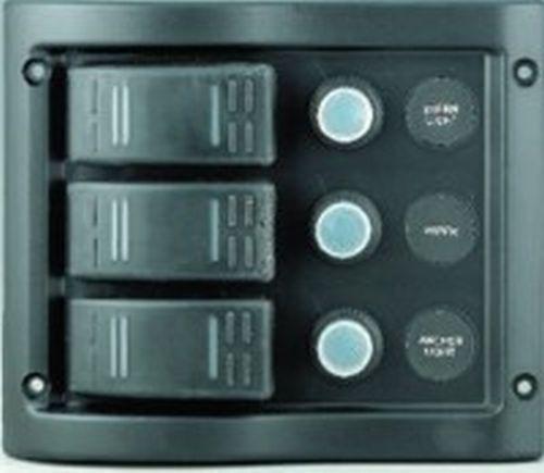 Schalttafel Schaltpaneel 3-fach Sicherungsautomat 37 AH