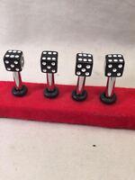 Pt Cruiser Black Vegas Dice Door Lock Pins Set/4 Fits Many Other Classics Too