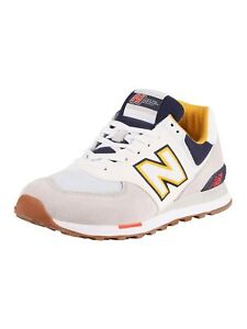 New-Balance-Men-039-s-574-Sky-Lite-Suede-Trainers-White