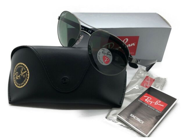 Ray Ban Round Sunglasses Rb 3536 029 9a 55 18 3p Black Green Polarized