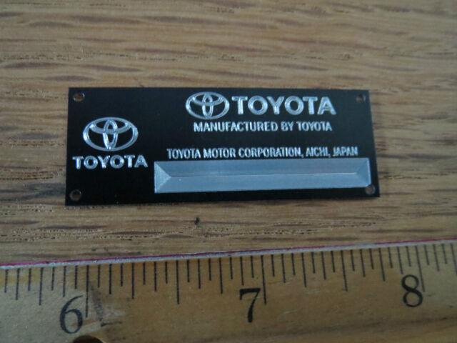Toyota Metal Display Plaque Diecast 1/24 1/18 1/43 Fujimi Tamiya Autoart 2000 GT
