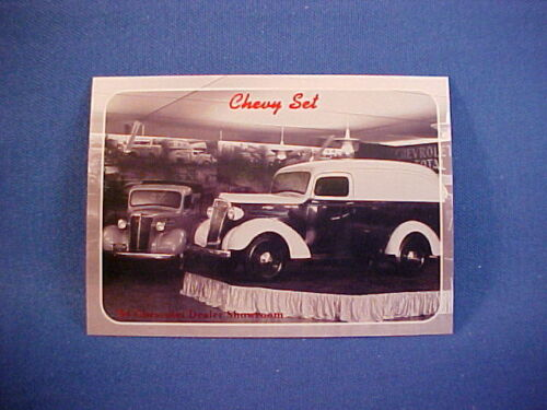 1937 Chevy Pickup Truck Sedan Delivery dealer showroom collector card--new 37