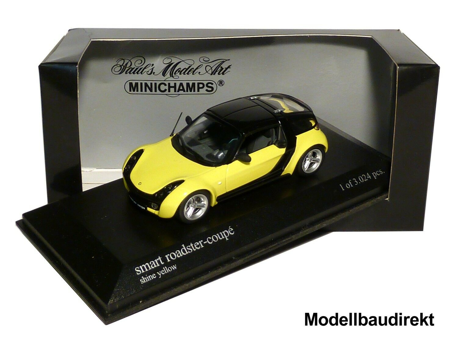 Smart Roadster Coupe in gelb Bj 2003 1 43 Minichamps 400032120 NEU & OVP  | Outlet Online