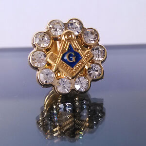 Brass Square /& Compass Pin #3 Masonic//Freemason Hat//Lapel Pin NEW ITEM!
