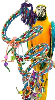 1962 Huge Charm Rope Boing Coil Swing Bird Toy