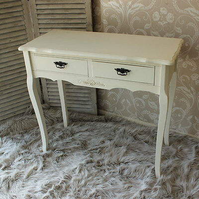 Cream Shabby French Vintage Chic Dressing Table Bedroom Childs Solid wood Flora