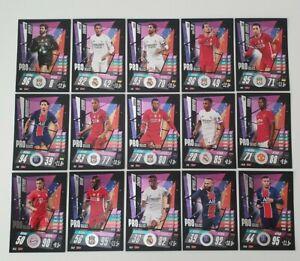 2020/21 Match Attax UEFA Champions - Pro Select Sub-Set (15 cards) inc Mbappe