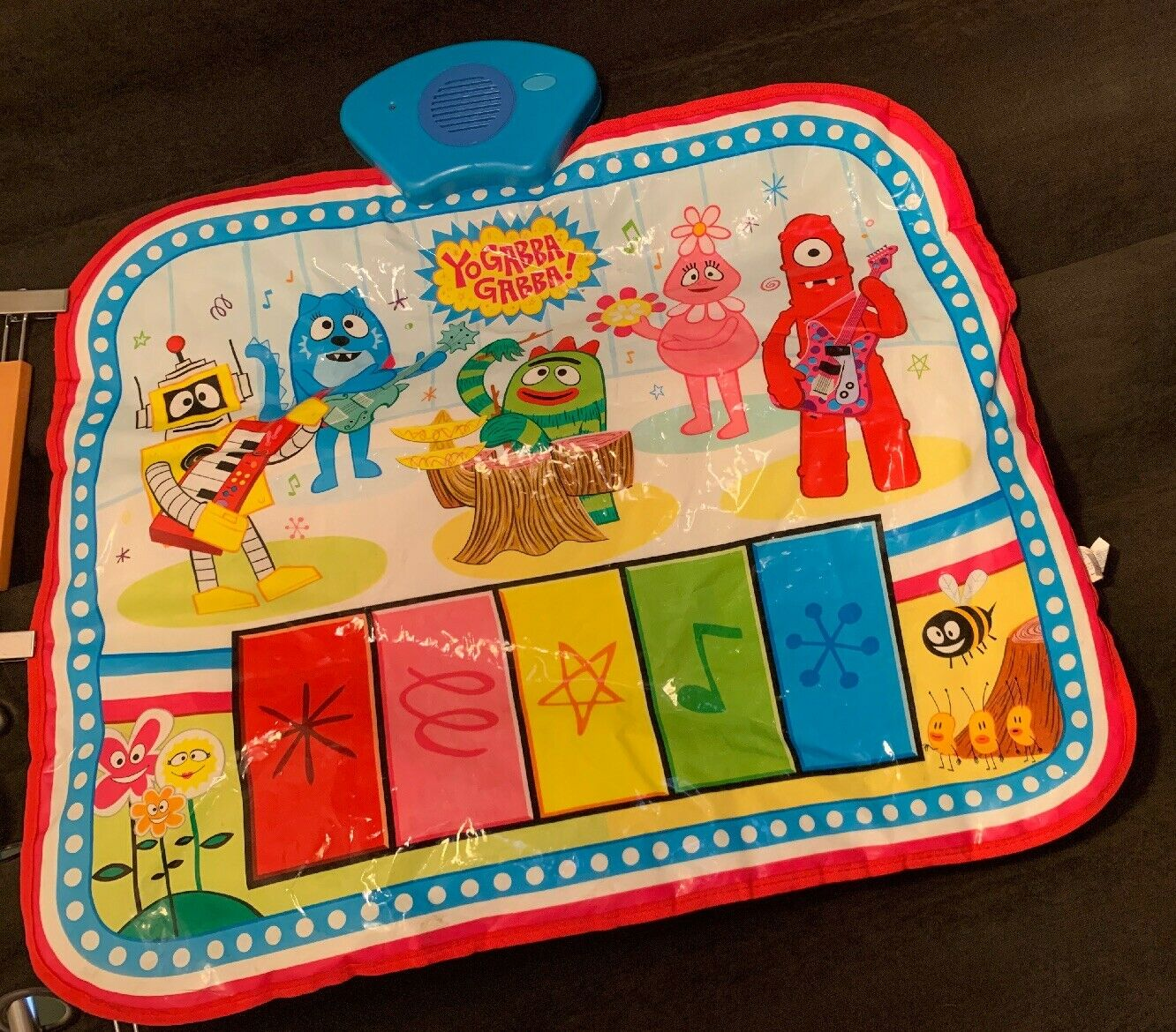 Yo Gabba Gabba Boogie Down Musical Piano Dance Mat Activity Pad Tested Working