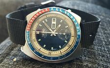 Vintage seiko chronograph pepsi pouge 6139 6002 gents mens automatic watch rare