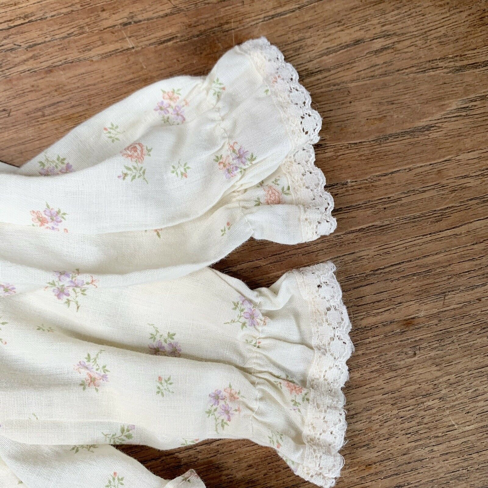 Vintage Girls 3T Tiered Prairie Dress Floral Lace… - image 6