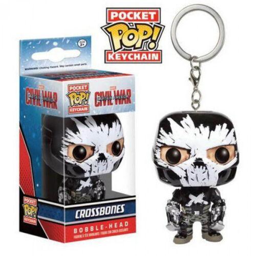 Funko Civil War Pocket POP Crossbones Vinyl Figure Keychain NEW Toys Keyring