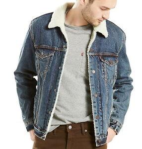 Levi S Men S Denim Sherpa Lined Trucker Jacket M Ebay