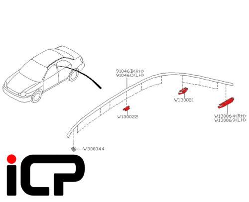 Roof Trim Clip Set Fits Subaru Impreza Saloon 00-07 RB320 Spec C RA UK300