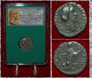 Ancient-Roman-Empire-Coin-ANTONINUS-PIUS-Annona-On-Reverse-Silver-Denarius