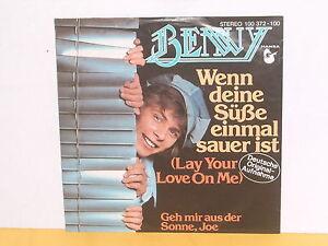 SINGLE-7-034-BENNY-WENN-DEINE-SUSSE-EINMAL-SAUER-IST
