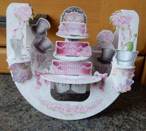 3D popnrock carte par Santoro graphics-gâteau de mariage