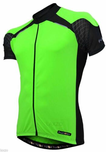 Funkier J-730-1 Gents Active Short Sleeve Bike Cycling Jersey in Yellow//Black XL