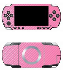 Pink Carbon Fiber Vinyl Decal Skin Sticker Cover for Sony PSP 1000