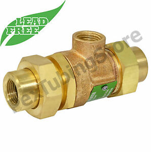 """1/2"""" Threaded (IPS) Backflow Preventer with Unions, LEAD-FREE"""