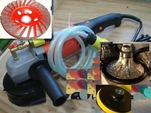 """1//2/"""" Bevel Bullnose Wet Polisher 15 Pad Grinding Cup stone concrete countertop"""