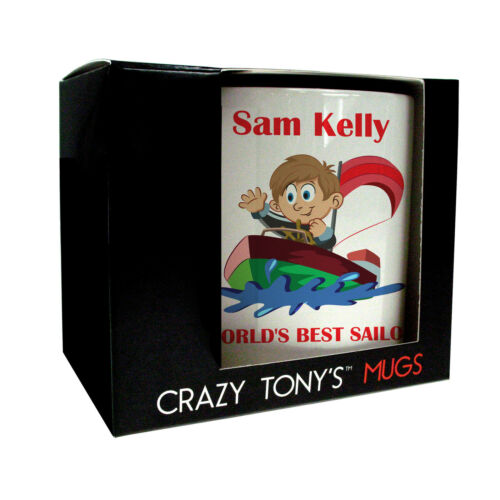 Mens Sailing Gifts Mans Sailing Present Personalised Sailing Mug Crazy Tony/'s