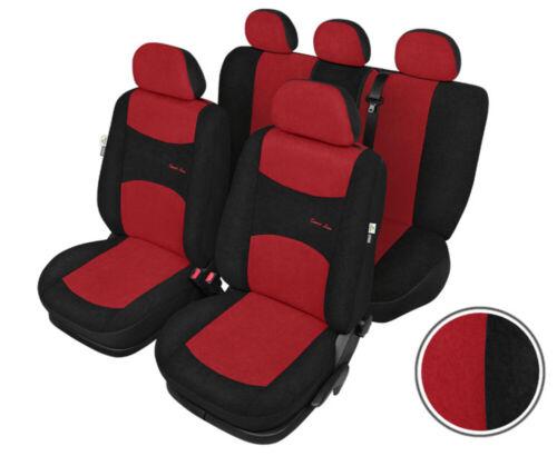 Audi A3 Moderne Sitzbezüge Sitzschoner Sport Line schwarz-rot