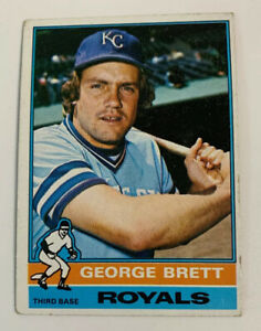 1976-George-Brett-19-Kansas-City-Royals-KC-Topps-Baseball-Card-HOF
