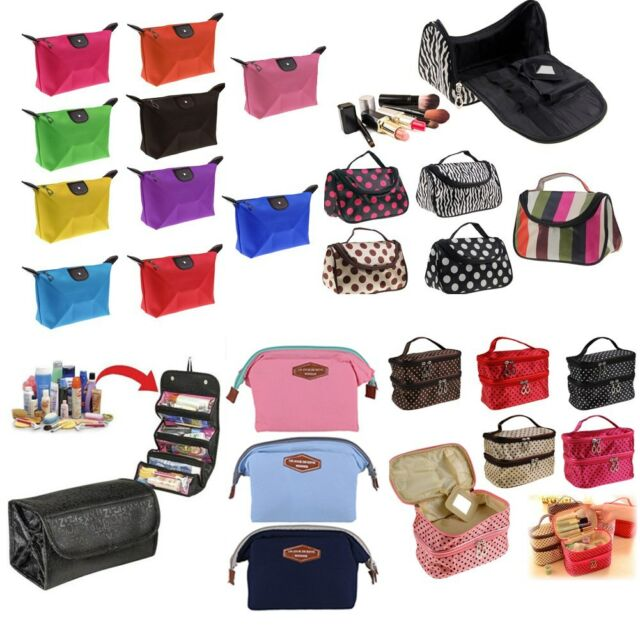 Travel Makeup Bag Toiletry Cosmetic Case Handbag Organizer Storage Pouch Purse