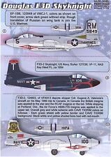 Print Scale Decals 1/72 DOUGLAS F3D SKYKNIGHT Jet Fighter