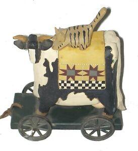 pull toy williraye studios ww1403 cow cat 1996 retired