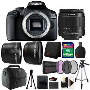 Canon EOS 2000D 24.1MP DSLR Camera + 18-55mm Lens + 8GB Accessory Bundle