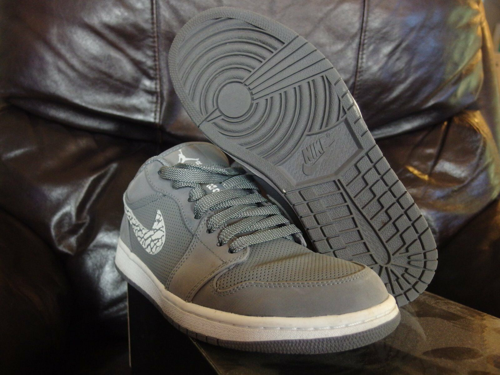 2011 Nike Air Jordan I Retro Retro Retro 1 Phat Low COOL grau CEMENT  supreme boost kaws a9ccad