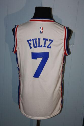 2 of 4 Adidas Philadelphia 76ers Sixers Sewn Markelle Fultz White Jersey S   Misprint 499f88844
