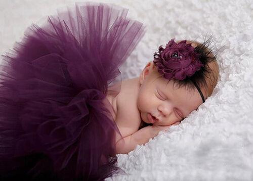 Newborn Baby Girl Toddler Flower Tutu Skirt Dress /& Headband Photo Props Outfit