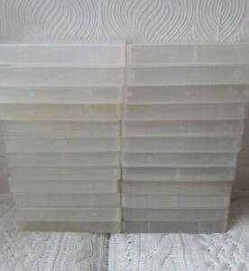 JOB-LOT-24-EMPTY-VHS-VIDEO-CASES-PLASTIC-STORAGE-BOXES-CRAFT-HOBBIES