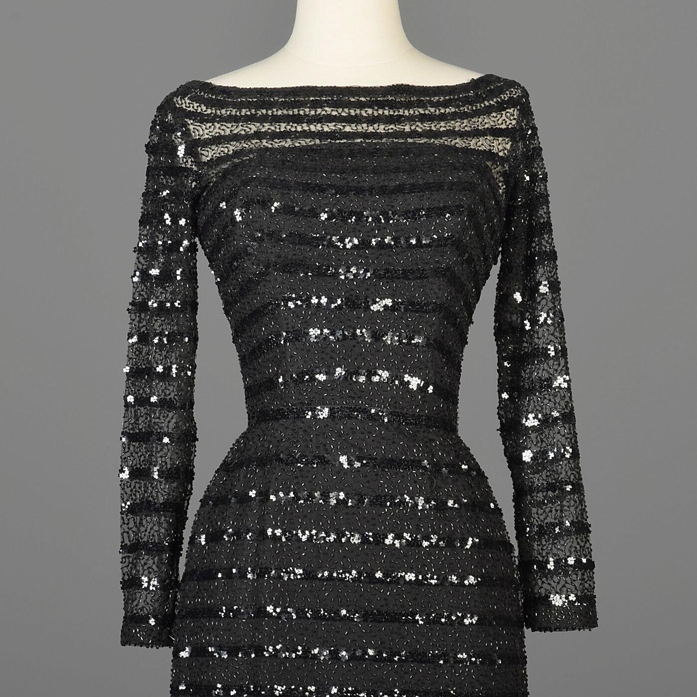 XXS Vintage 1960s 60s Ceil Chapman Long Sleeve Se… - image 6