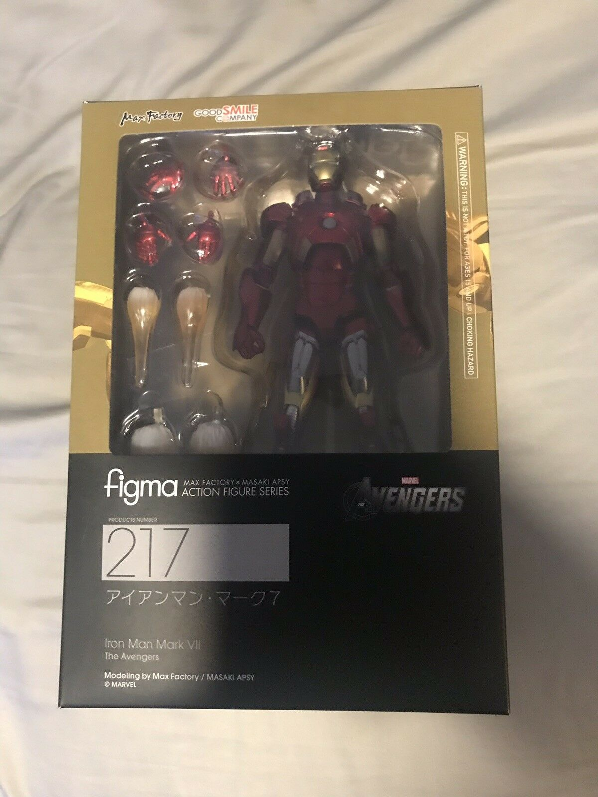 Max fabrik figma   217 marvel - film  iron man  the avengers  mark vii vor.