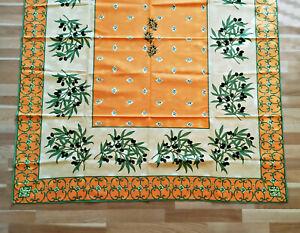 Magnifique Élégant Et Noble Nappe Provence 100% Coton Env. 175x140 Cm-afficher Le Titre D'origine