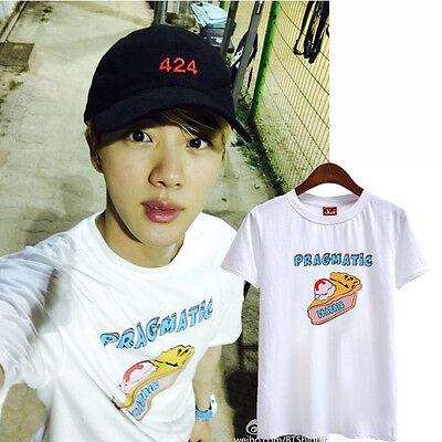 BTS JIN KPOP white T-SHIRT TSHIRT TEE BANGTAN BOYS
