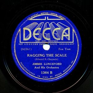 JIMMIE-LUNCEFORD-and-his-Orchestra-on-1937-Decca-1364-Ragging-the-Scale