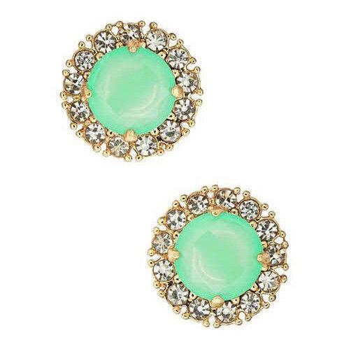0b767605b4790 Kate Spade Secret Garden Earrings Bud Green Crystal Studs Wbru7214