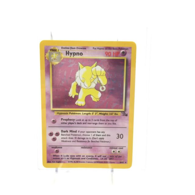 Hypno - Fossil Set - 8/62 - Holo-foil Rare - Collectible Pokemon Card - HP