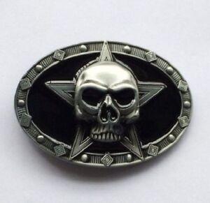 Ceinturon Tête De Mort 3d Sur Étoile-Rocker-Motar-Biker   eBay 27603356f68