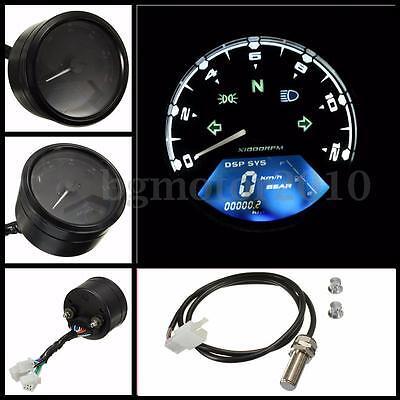 Digital LCD Speedometer Odometer Tachometer F 2 4 Cylinders Motorcycle 12000RPM