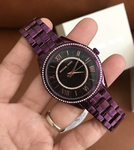 Big-Sale-Michael-Kors-Lauryn-Plum-Watch-MK3724