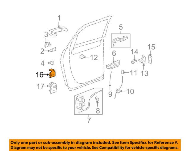 13583618 New OEM Front Door Hinge - Various GM RH Upper or Lower see fitment