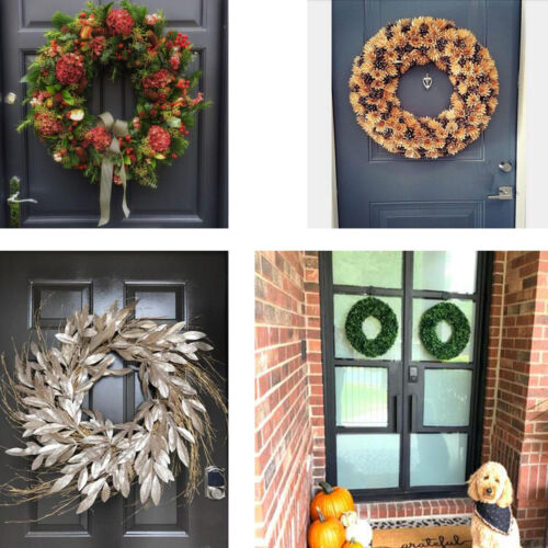 Magnetic Wreath Hanger Hooks 2-Pack Won/'t scratch,for Steel Doors,Up to 5lbs