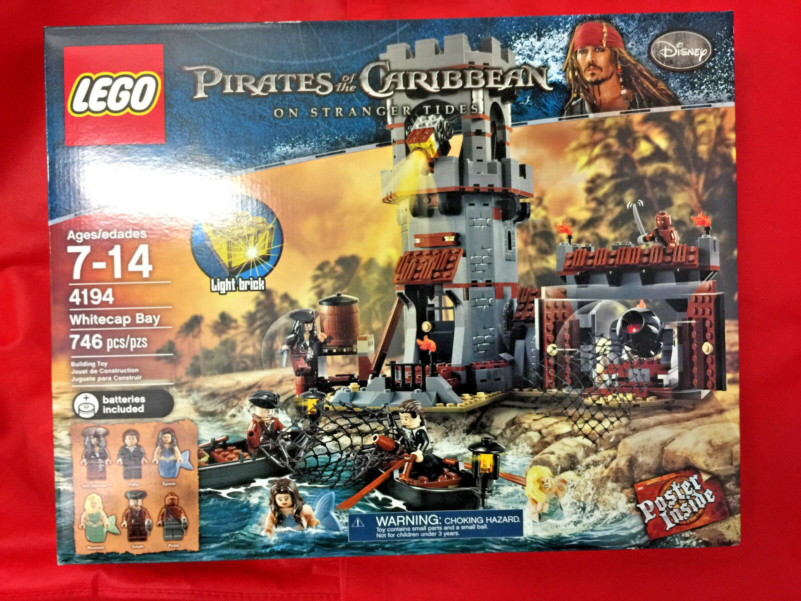 LEGO Pirates of the Caribbean WeißCAP BAY 4194 New Factory Sealed RETIrot